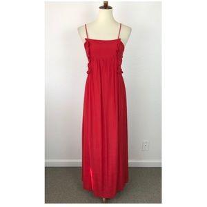 Zara Basic Collection Ruffled Tie Back Dress D751
